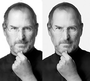steve jobs photoshop filter effect